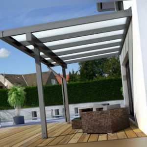 TREND Aluminium Terrassenüberdachung Terrassendach Alu Überdachung Carport