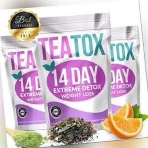 TEATOX Detox Tee 14 Tage Diät abnehmen Kur Entgiftungskur Entschlackungstee