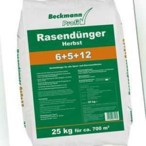 Beckmann Profi Rasendünger Herbst 25 kg Herbstrasendünger Dünger mit viel Kalium
