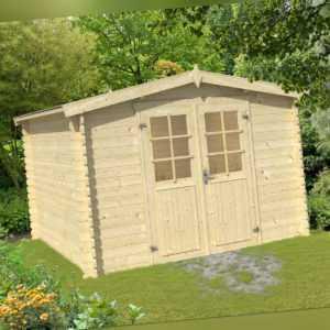 28 mm Gartenhaus 320x320 cm Gerätehaus Holzhaus Schuppen Holz Blockhaus NEU