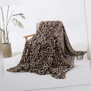 Leopardenmuster Decke Shaggy Blanket Sofadecke Schlafdecke