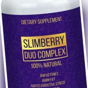 SLIMBERRY Duo Complex Ketose Gewichtsverlust 80 Kaps Fettverbrenner Diät Keto