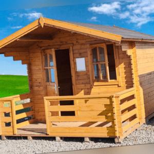 28mm Gartenhaus 440x300 cm 4,4x3 m Gerätehaus Holzhaus Blockhaus inkl. Fußboden