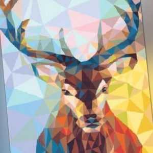 Schipper 609460737 Polygon-Art Hirsch Malen nach Zahlen