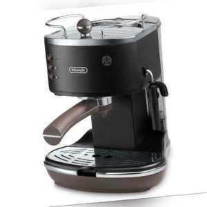 Espresso Maschine Siebträger Kaffee Maschine Delonghi schwarz...