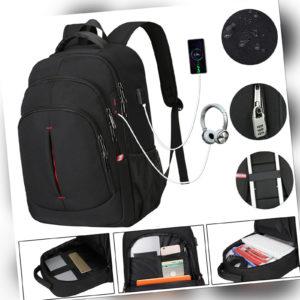 Rucksack Anti-Diebstahl Wasserdicht RFID USB Sport Arbeit Freizeit Schulrucksack