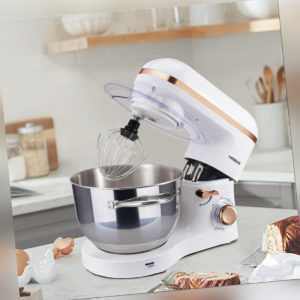 AREBOS Küchenmaschine 1500W 6L Edelstahl-Rührschüssel Geräuschlos ...