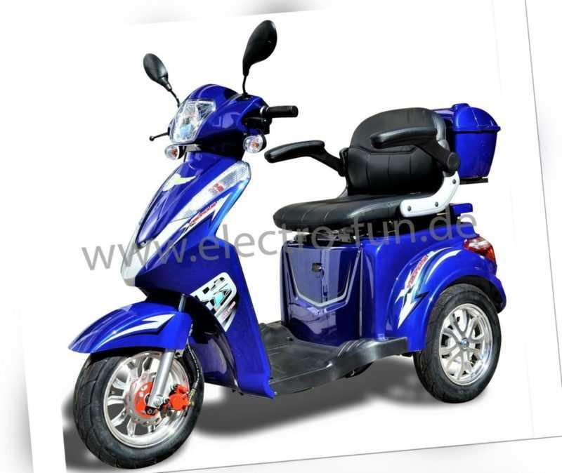 Senioren Roller ECO ENGEL 501 Blau, Seniorenmobil, 25 km/h