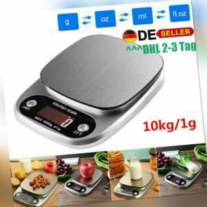 10000g/1g Digital KüchenwaageLCD Edelstahl Waage Briefwaage Feinwaage Scale DHL