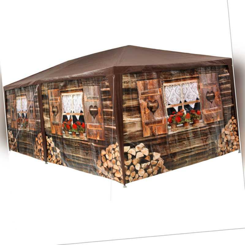 Pavillon 3x6 m Almhütte Festzelt Partyzelt Gartenzelt Bierzelt Zelt Apres Ski