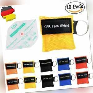 10 Beatmungstuch Beatmungsfolie Beatmungsmaske CPR Key Beatmungshilfe FaceShield