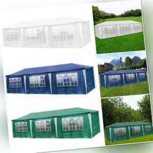 3x9m Festzelt PE Stabiles hochwertiges Pavillon Partyzelt Bierzelt Gartenzelt