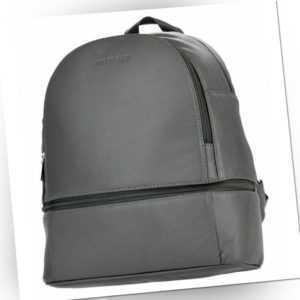Rucksack Leder Damen grau Echtleder Vollleder Lederrucksack Backpack WOODBAG
