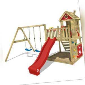 WICKEY Spielturm Kletterturm Smart Lodge 120 Klettergerüst rote Rutsche