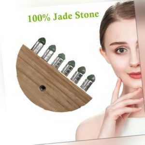 3X(Gua Sha Therapie Guasha Board 6 Jade Roller Fuß Pflege Gesichts Massage H8E7)