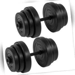 MOVIT 2x 20kg Hanteln 40 kg Hantelset Hantel Kurzhantel Kurzhanteln Gewichte Set