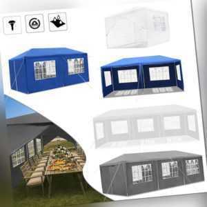 Pavillon Camping Zelt Partyzelt 3x3m 3x6m 3x9m Gartenzelt Marktstand Festzelt DE