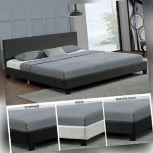 Polsterbett Doppelbett Kunstlederbett Bettgestell Bettrahmen Lattenrost ArtLife®