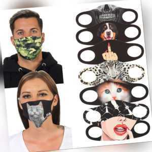 Maske Stoffmaske Mundschutz  Wiederverwendbar Waschbar Atemschutz Nasenschutz