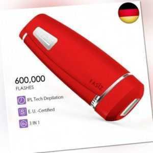 IPL Haarentfernungsgerät, Dauerhafte Haarentfernung Haarentferner 600.000 (Rot)