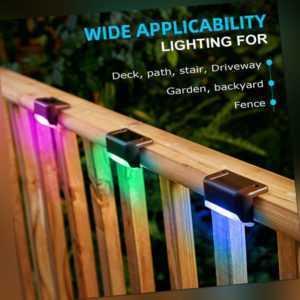 12er LED Solarleuchte Wandlampen Zaunleuchte Gartenleuchte Außen Stufenleuchten