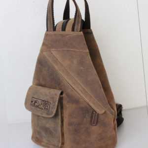 2 in 1 Leder Rucksack und Umhängetasche Hunter Collection von Bayern Bag® 1585