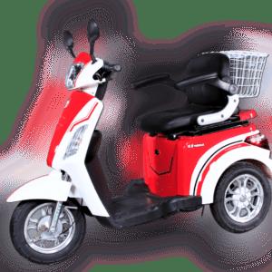 Elektro Dreirad ECO ENGEL 500 Rot Weiß 1000 Watt, 25 km/h