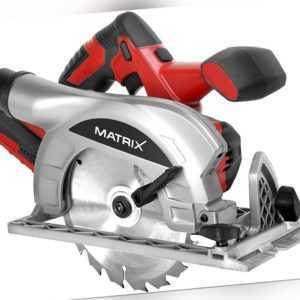 MATRIX AKCS 20V Li Akku Handkreissäge Kreissäge Laser Säge mit Akku u. Ladegerät
