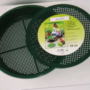 Gartensieb Erdsieb Kompostsieb Kunststoff Durchwurf Sieb Erde Ø 38 cm 4 + 6 mm