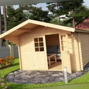 Gartenhaus VILJANDI 320x320cm 3x3m, 28 oder. 44 mm Wandstärke LASITA MAJA