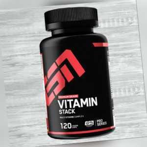 ESN Vitamin Stack 120 Kapseln 14,33 €/100g Multivitaminpräparat mit 13 Vitaminen