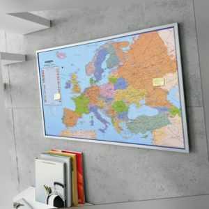 Pinnwand Europakarte Wandtafel Memoboard Pinwand Korkwand Landkarte 90 x 60 cm