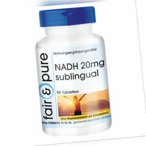 NADH 20mg sublingual - 90 Tabletten Himbeer-Aroma hochdosiert vegan, fair