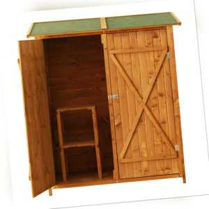 Outsunny Gerätehaus Holz Gartenschrank Geräteschuppen Geräteschrank Gartenhaus