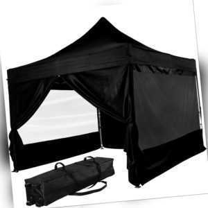 INSTENT® Pavillon Faltpavillon 3x3m ALU WASSERDICHT PRO Garten Partyzelt faltbar