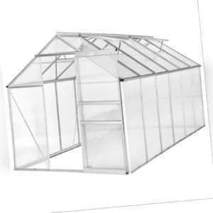 Alu Gewächshaus 11,13m³ Gartenhaus Tomaten Treibhaus Garten Pflanzenhaus