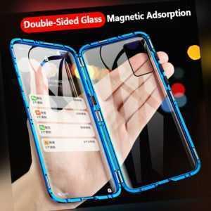 Hülle Samsung Galaxy S10 S20 Ultra Plus S8 S9 360° Magnet Glas Handy Schutzhülle