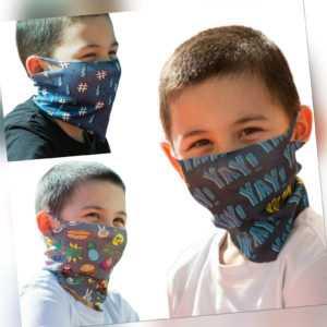 ALB Stoffe® Kids Loops Mix 1, 3x Mund-Nasen-Masken, antimikrobiell, 100% dt. H.