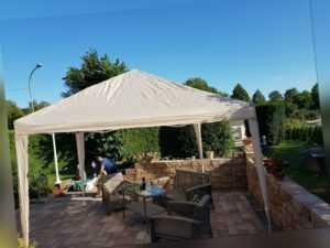 Pavillon 3x3 m Faltpavillon Popup Partyzelt Gartenzelt wasserdicht