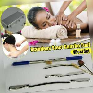 4PCS Edelstahl Gua Sha Massage Kit Medizinische Qualität Verschrottung