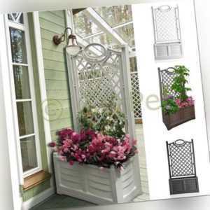 Blumentopf Pflanzkübel Blumenkasten mit Spalier Blumenkübel Rankhilfe Rankgitter