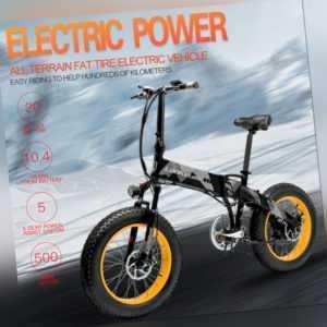 LANKELEISI 20 Zoll Faltbares Elektrofahrrad E-Bike 500W 10.4AH 7 Gang 35km/h