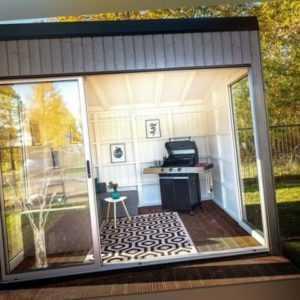 Agande Gartenhaus Blockhaus Gartenhäuser  Holz Cube 300x300 cm, 383873