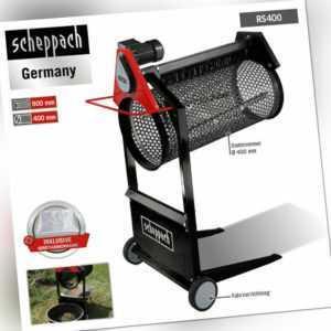 Scheppach Gartenrollsieb RS 400 360W 230V Erdsieb Kompostsieb +Geräteabdeckhaube