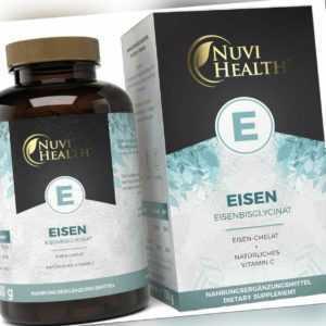 Eisen-Bisglycinat 240 Tabletten (V) Hochdosiert mit 50mg + Vitamin C (natürlich)