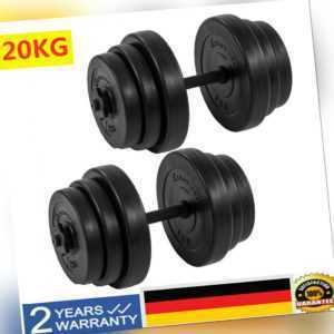 Hantelset 20kg Hantel Kurzhantel Set Krafttraining Hantelscheiben Kurzhanteln DE