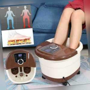 Fußsprudelbad Fußmassagegerät Fußmassage 4 Fuß-Reflexzonen-Massage Fußbadewanne