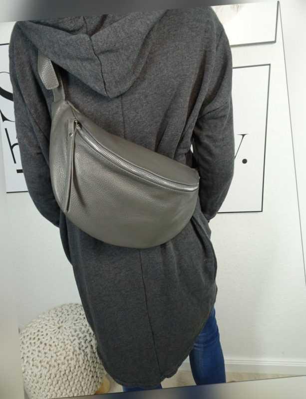 Italy borse in pelle echt Leder Damen Handtasche  crossover Body Bag Mittelgroß 