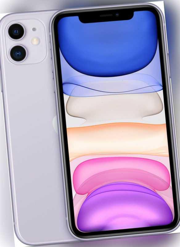 APPLE iPhone 11 128GB 6,1 Zoll 12MP Dual Kamera Dual-SIM purple MWM52ZD/A B-WARE