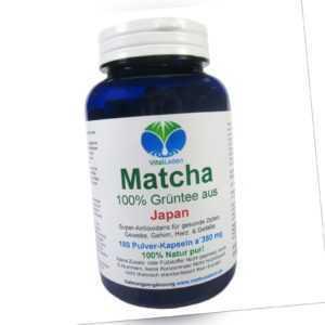 Matcha Grüntee aus Japan 180 Pulver Kapseln Ohne Zusatzstoffe Natur Pur. 25461